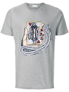 футболка с нашивкой игральной карты Etro