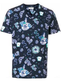 футболка с принтом змей и бабочек Etro