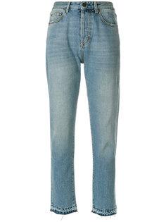 джинсы с завышенной талией Saint Laurent