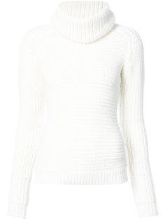 свитер с отворотной горловиной в рубчик Barbara Bui