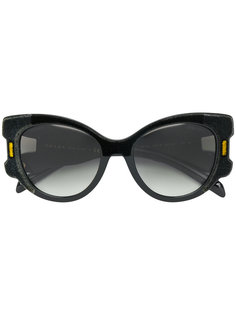 объемные бархатные солнцезащитные очки Prada Eyewear