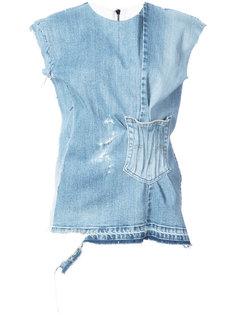 джинсовая блузка без рукавов  Maticevski