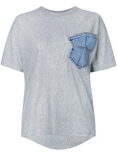 футболка с джинсовым карманом Maticevski