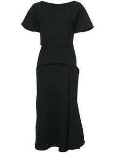 драпированное платье миди  Maticevski