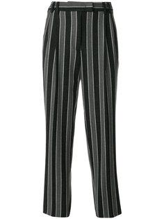 зауженные брюки в полоску Alberto Biani