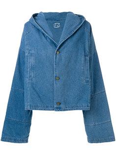 объемная джинсовая куртка 69