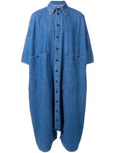 объемный джинсовый комбинезон 69