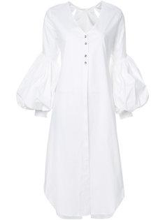 удлиненная рубашка с буффами на рукавах Leal Daccarett