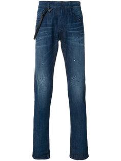 джинсы кроя слим с подворотами Emporio Armani