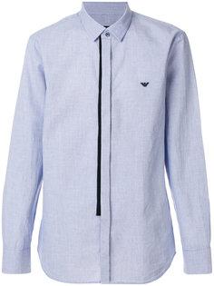 классическая рубашка в полоску с логотипом Emporio Armani