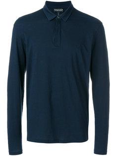 рубашка-поло с длинными рукавами Emporio Armani