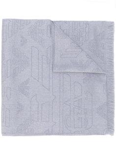 шарф с вышивкой логотипа Emporio Armani