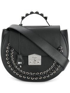 сумка на плечо с заклепками и шнуровкой Salar