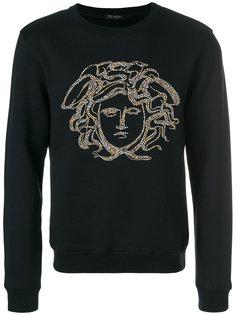 декорированная толстовка Medusa Versace