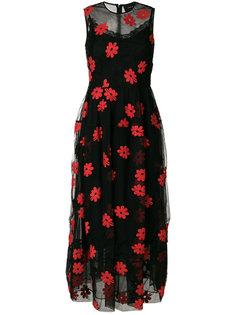 расклешенное приталенное платье с принтом Simone Rocha