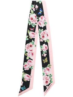 шейный платок с цветочным принтом Dolce & Gabbana