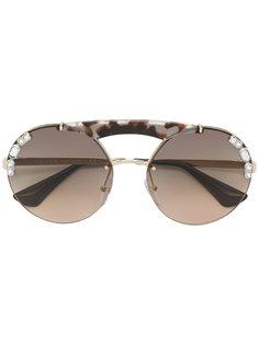 декорированные солнцезащитные очки Prada Eyewear