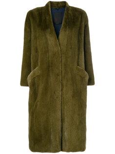 объемное пальто средней длины Liska