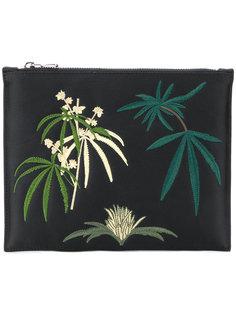 клатч с растительной вышивкой Creatures Of The Wind