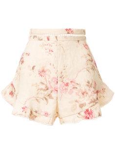шорты с цветочным принтом Zimmermann