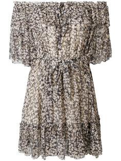 платье с открытыми плечами и цветочным принтом Zimmermann