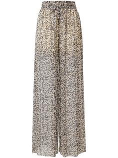 прозрачные брюки с цветочным принтом Zimmermann