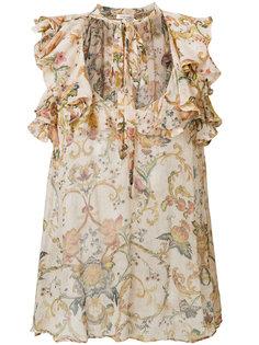 блузка с завязками на шее Zimmermann