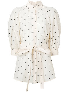 блузка с принтом сердец Zimmermann