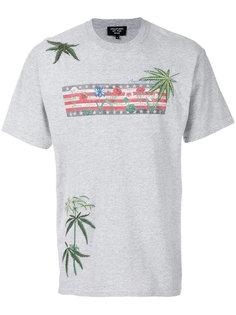 футболка с вышитыми листьями Creatures Of The Wind