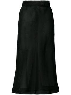 прозрачная юбка миди Murmur