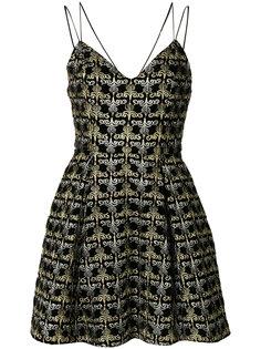 """расклешенное платье с вырезом """"сердце"""" Alice+Olivia"""
