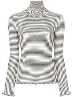 свитер в полоску с высокой горловиной Nanushka