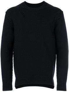 свитер с рваными деталями Attachment