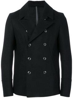 короткое двубортное пальто Attachment