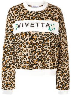 толстовка с леопардовым узором и логотипом Vivetta