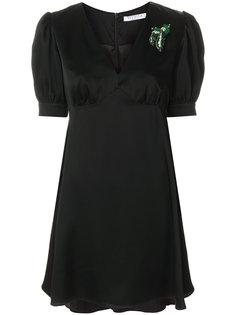 декорированное платье с V-образным вырезом Vivetta