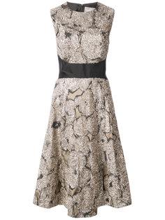 платье с блестящими заплатками Lela Rose