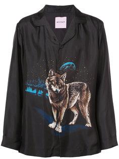 рубашка с принтом волка Palm Angels
