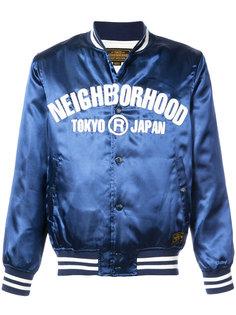 куртка-бомбер  с логотипом Neighborhood