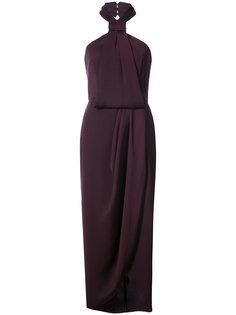 драпированное платье с вырезом-халтер Shona Joy