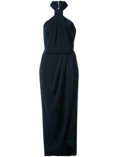 платье с вырезом-халтер  и запахом Shona Joy