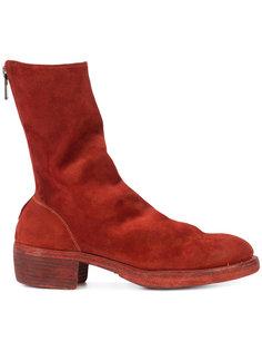 сапоги на наборных каблуках Guidi