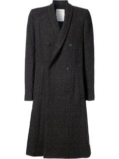 двубортное пальто в клетку Stephan Schneider