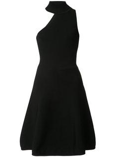 платье с асимметричным вырезом и высокой горловиной  Cushnie Et Ochs