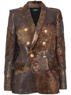 двубортный приталенный пиджак Balmain