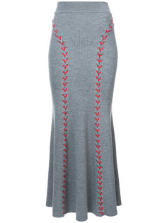 длинная юбка со шнуровкой Alexander McQueen