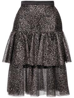многослойная юбка с рюшами Rodarte