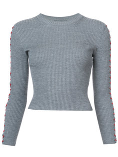 укороченный свитер со шнуровкой Alexander McQueen