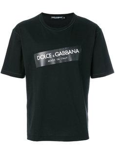 футболка с логотипом Dolce & Gabbana