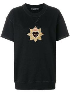 футболка с вышивкой ордена Dolce & Gabbana